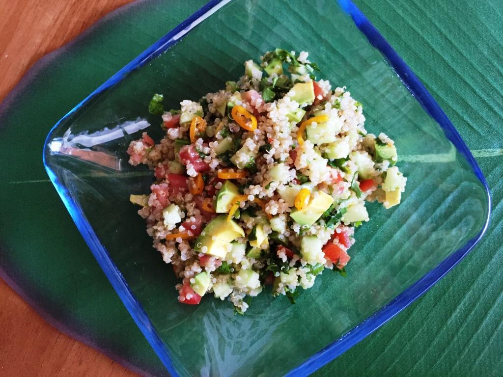 Ensalada de quinoa y chile