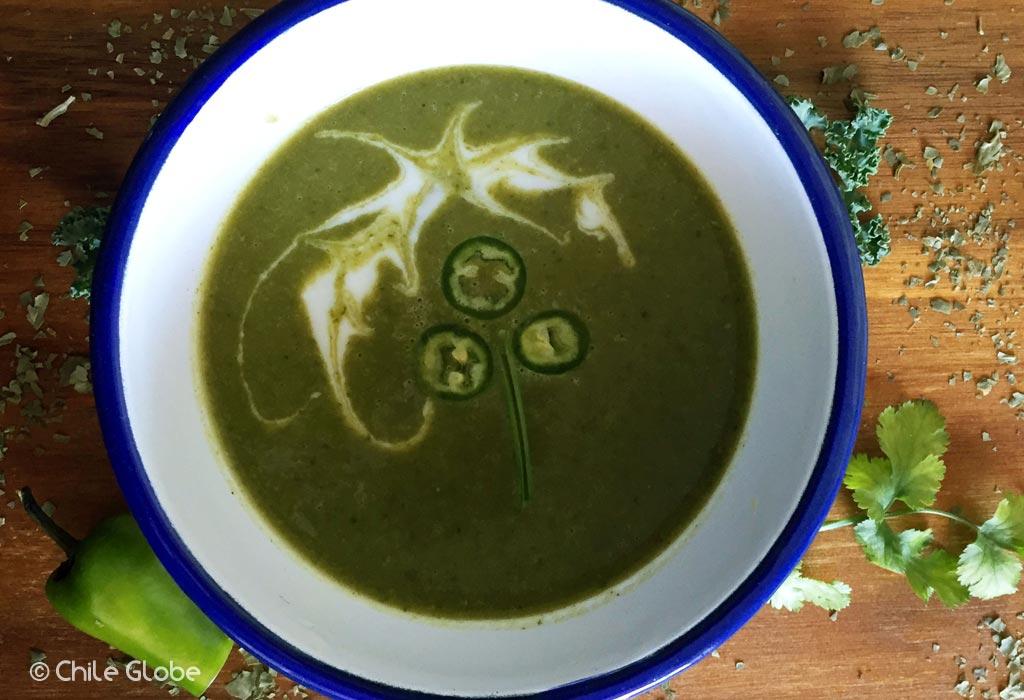 Sopa Kale Con Chile Para Saint Patrick's Day